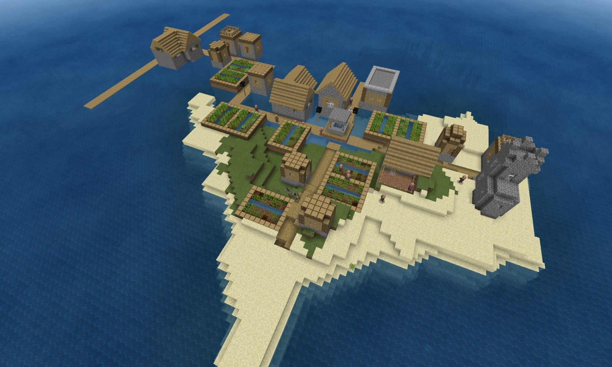 Floating Village Seed - Above
