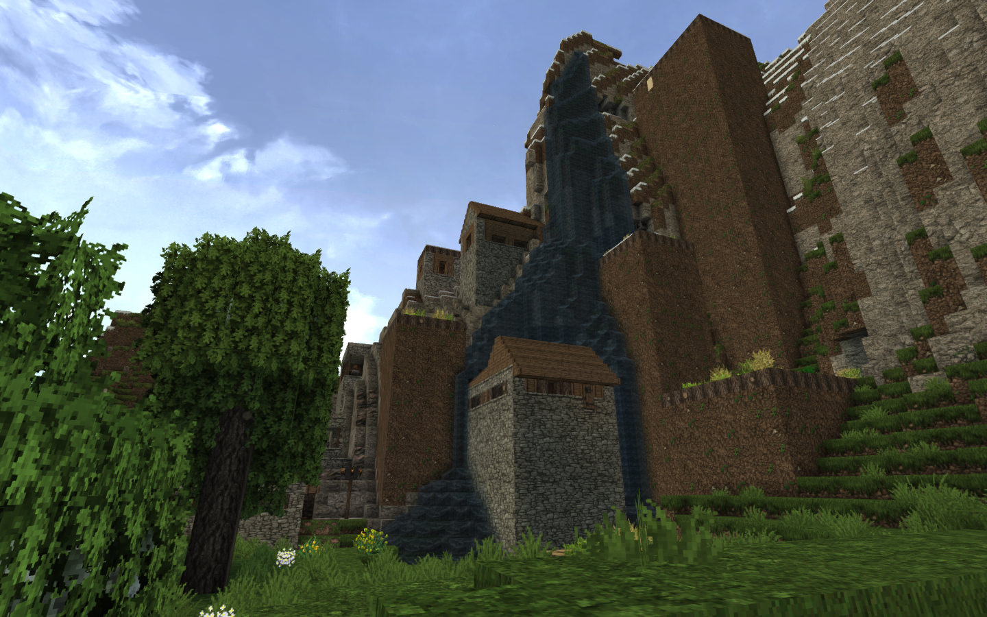 Minecraft Screenshot - High Altitude Village - Conquest Texture - Optifine