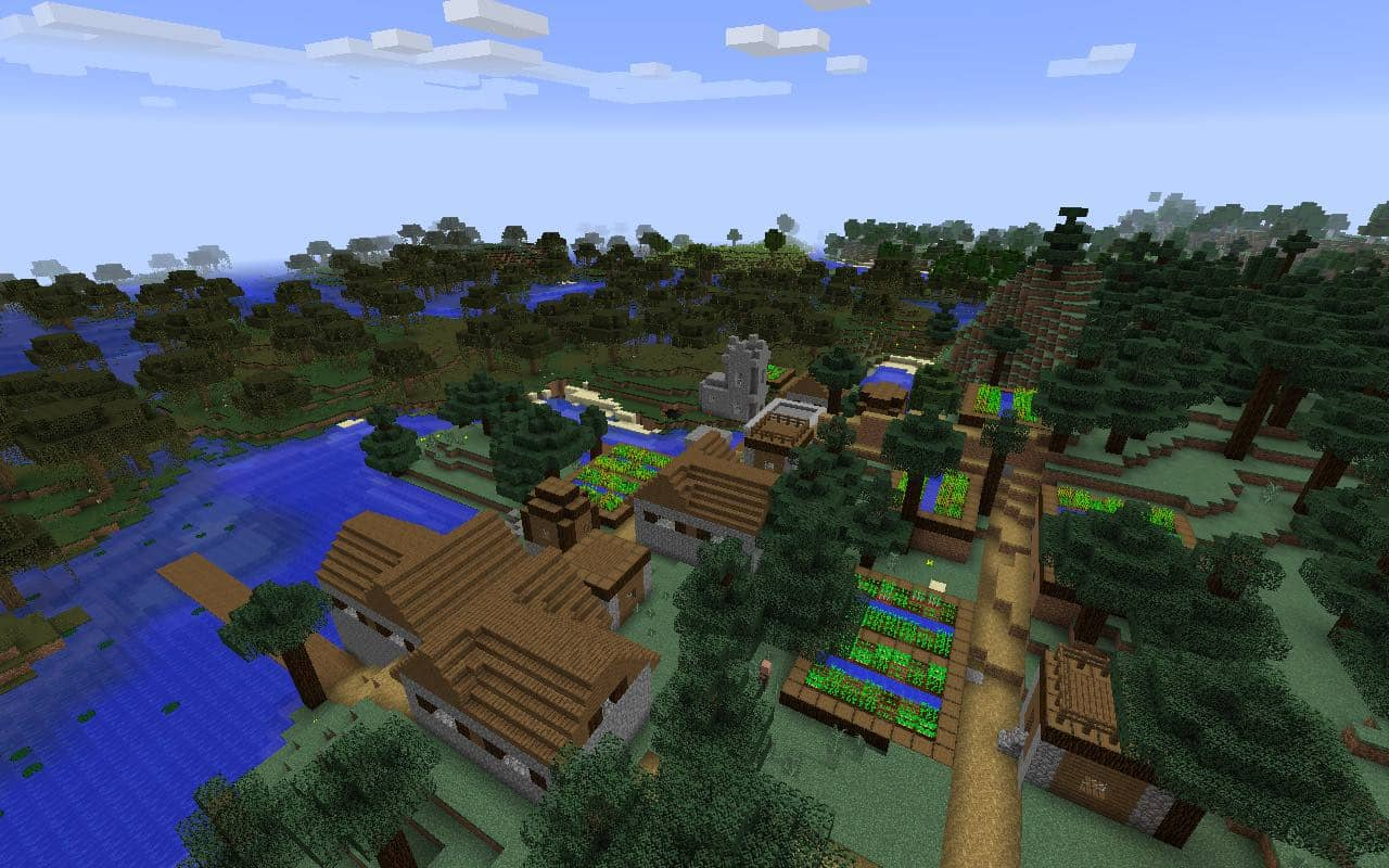Swamp and Village Seed for Minecraft