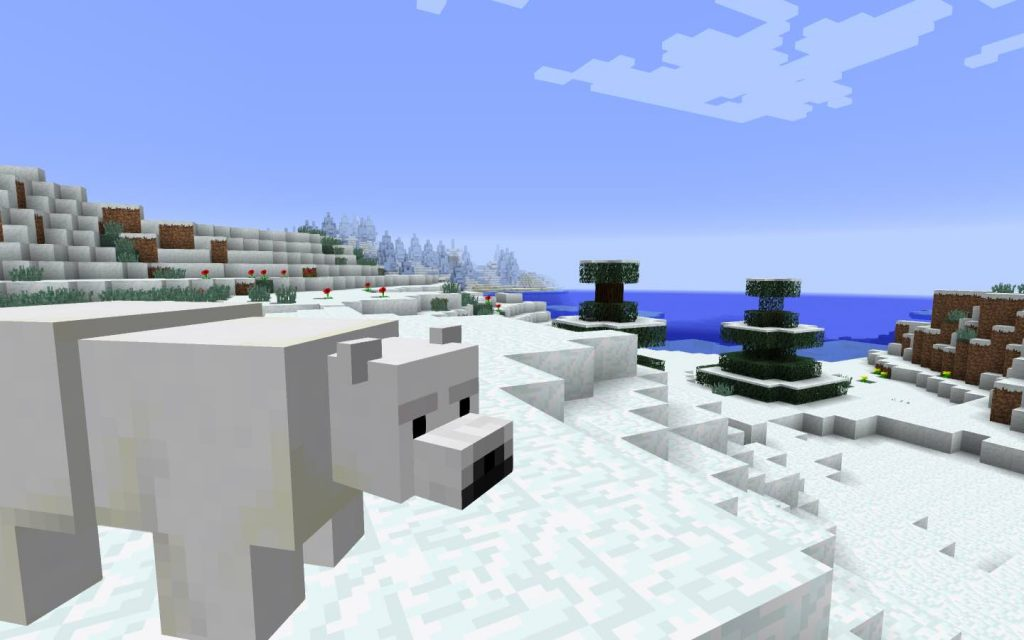 Polar Bear on Ice Plains