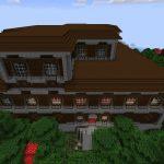 Woodland Mansion and Ravine at Spawn