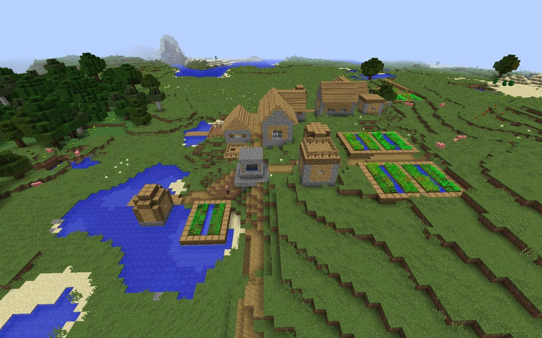 как создать новый мир с деревней в майнкрафте #8