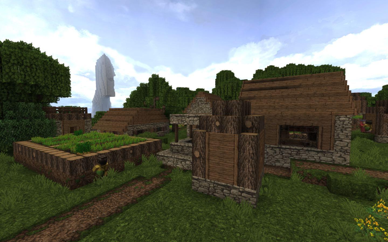 Village Ocean Monument Seed Screenshot