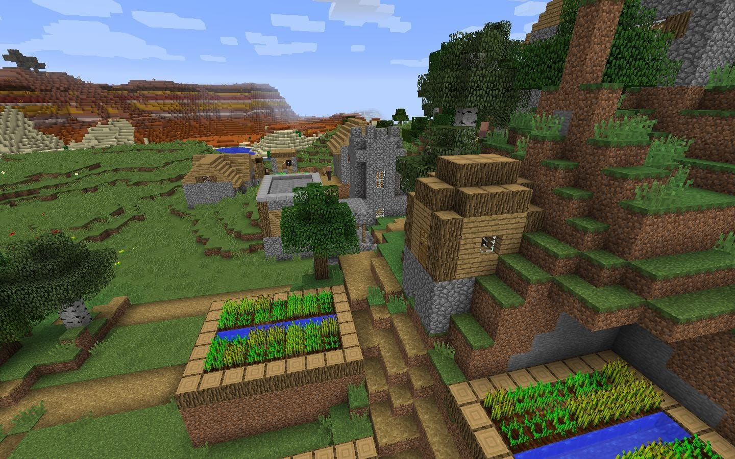 Blacksmith Village Minecraft Seed