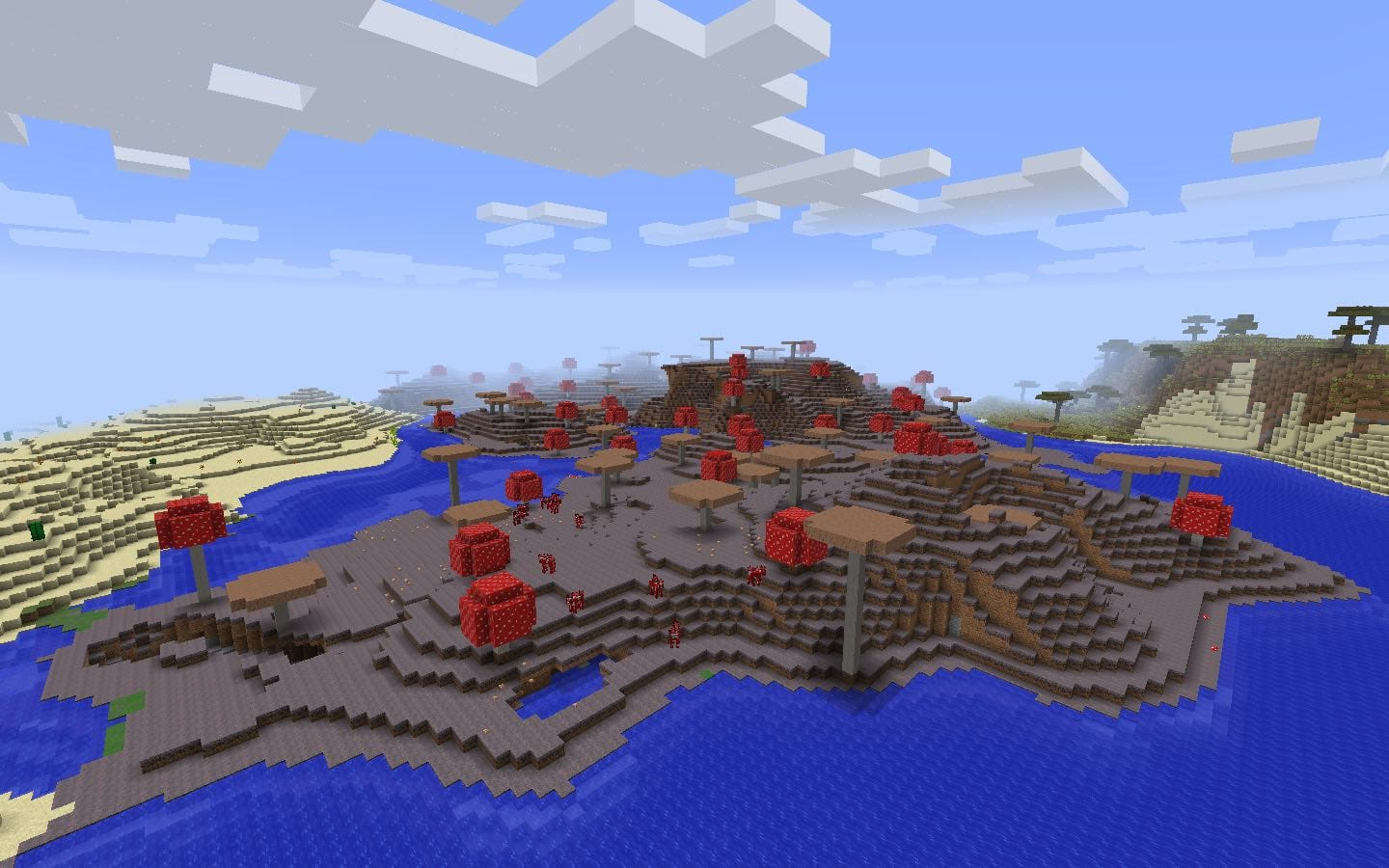 Minecraft mushroom island seeds minecraft seed hq spawn at the edge of a mushroom island biome in this minecraft seed for pc and mac the mushroom biome is loaded with mooshrooms and bound to other biomes gumiabroncs Images