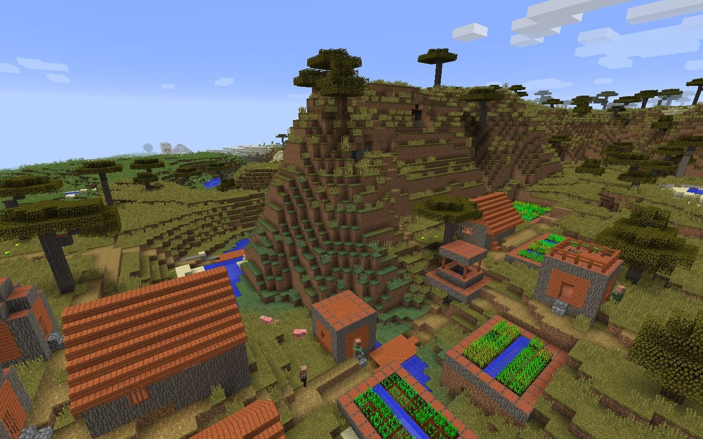 Savanna Acacia Village Spawn Seed PC-Mac