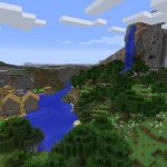 Waterfall and Flower Forest Minecraft Seed