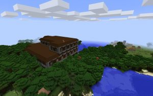 Spawn in a Roofed Forest Staring at a Mansion - Minecraft Seed HQ