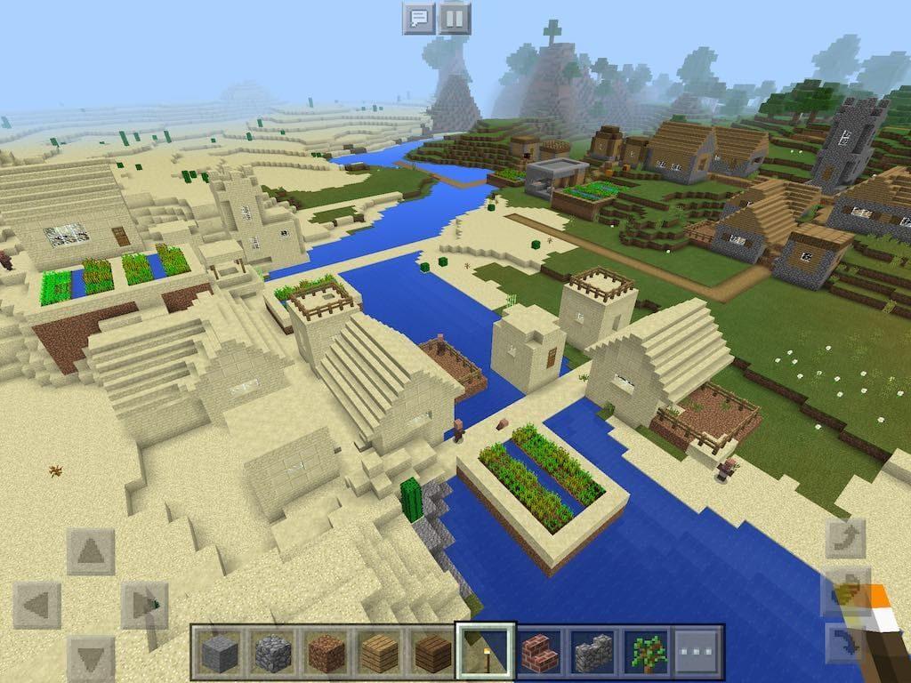 City from Over the Desert Village
