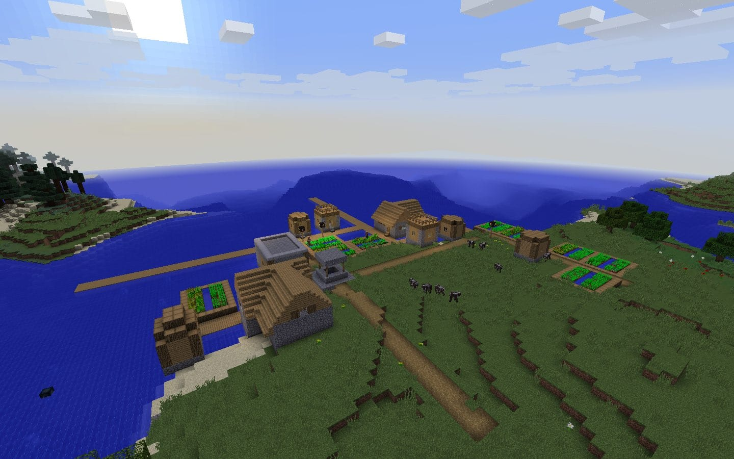 Fishing Village with Blacksmith - Minecraft Seed HQ