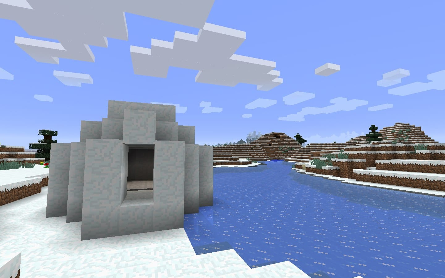 Igloo With Basement On Frozen River Minecraft Seed Hq