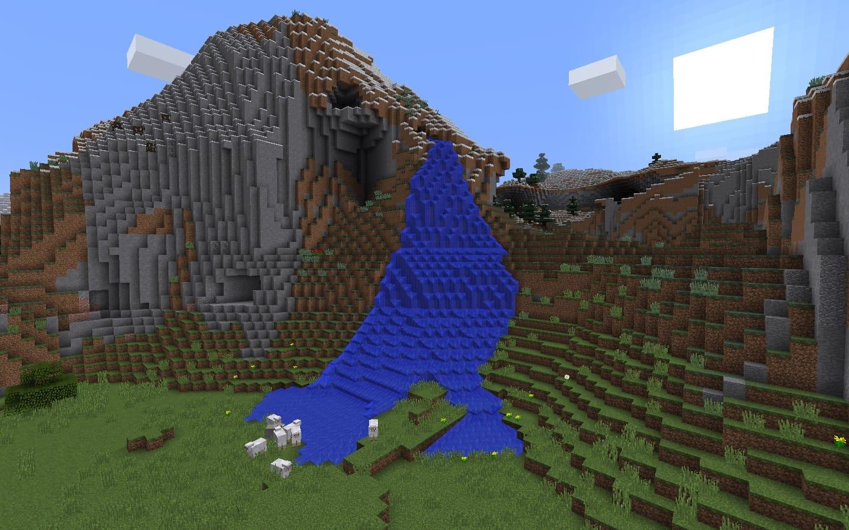 Waterfall Spawn - Minecraft Seed