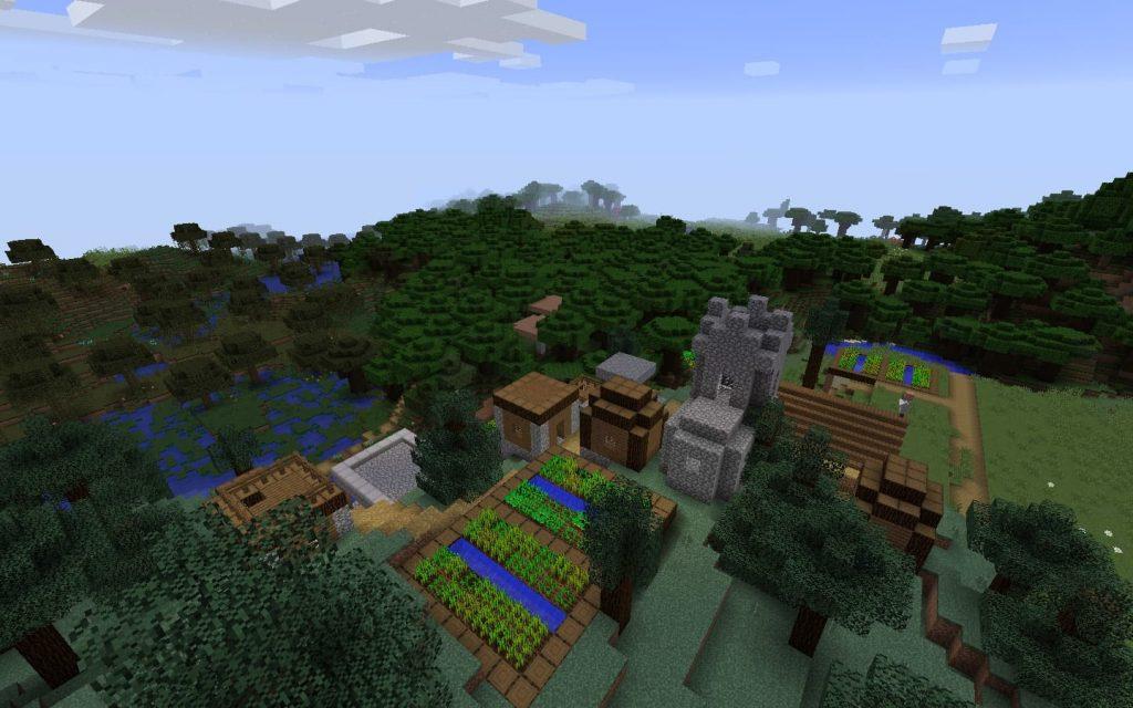 Swamp, Taiga and Plains Biomes