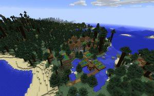 Minecraft Dark Oak Village Seed