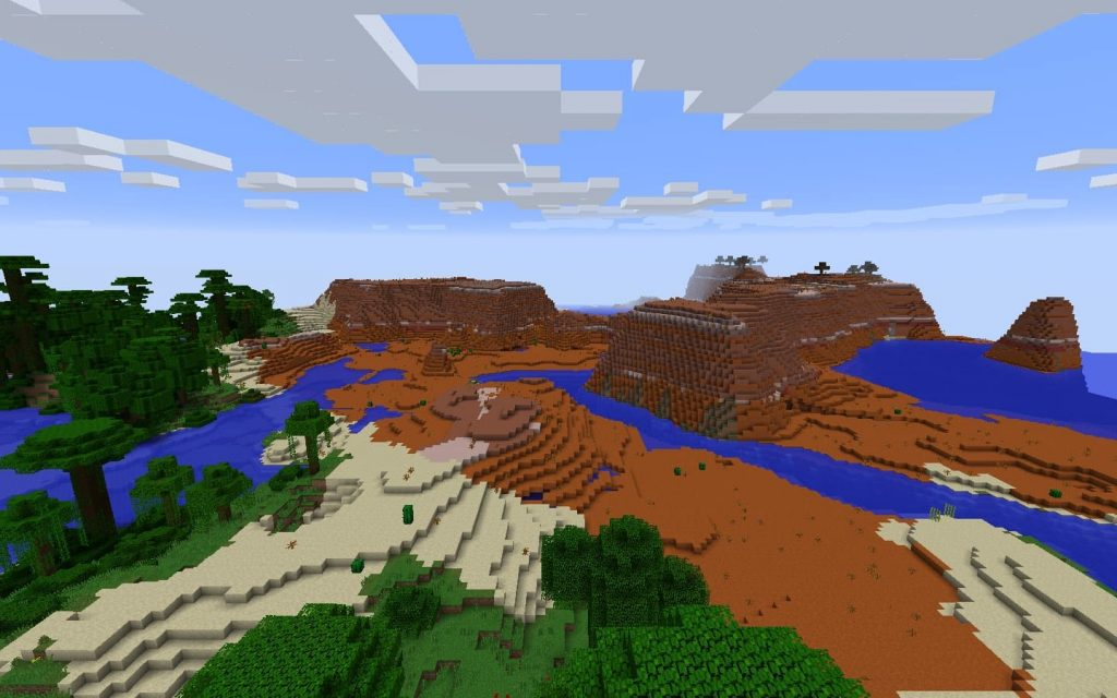 Mesa Seed with Jungle and Savanna Biomes - Minecraft Seed HQ