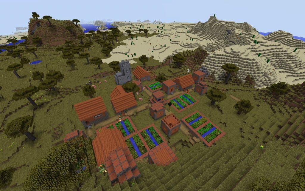 Savanna Village and Desert Biome