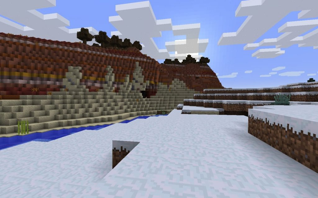 Spawn in Snow by Mesa Biome