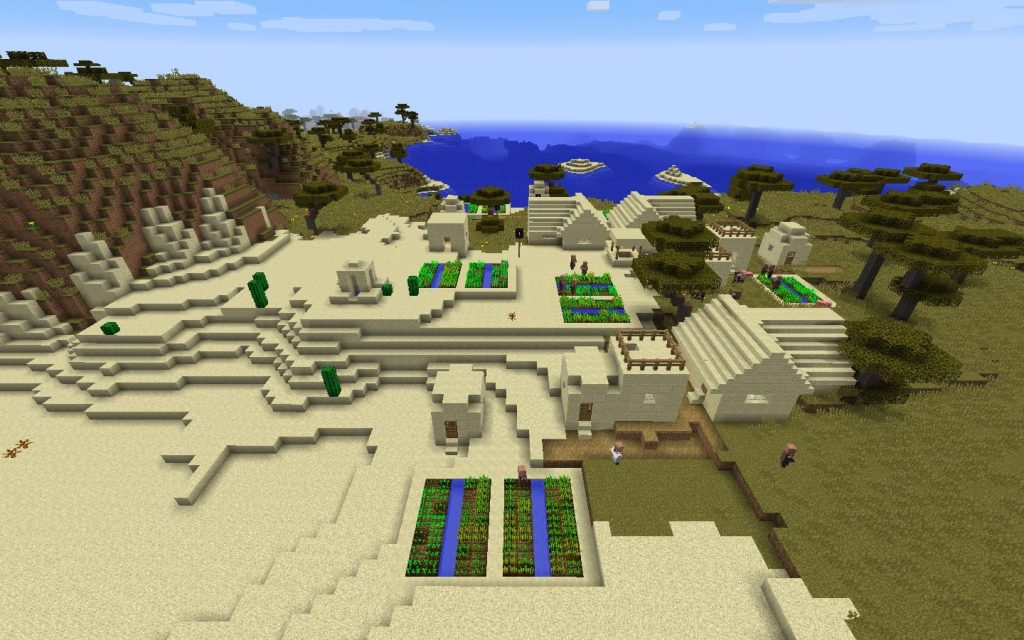 Village in Mesa Biome - Minecraft Seed HQ