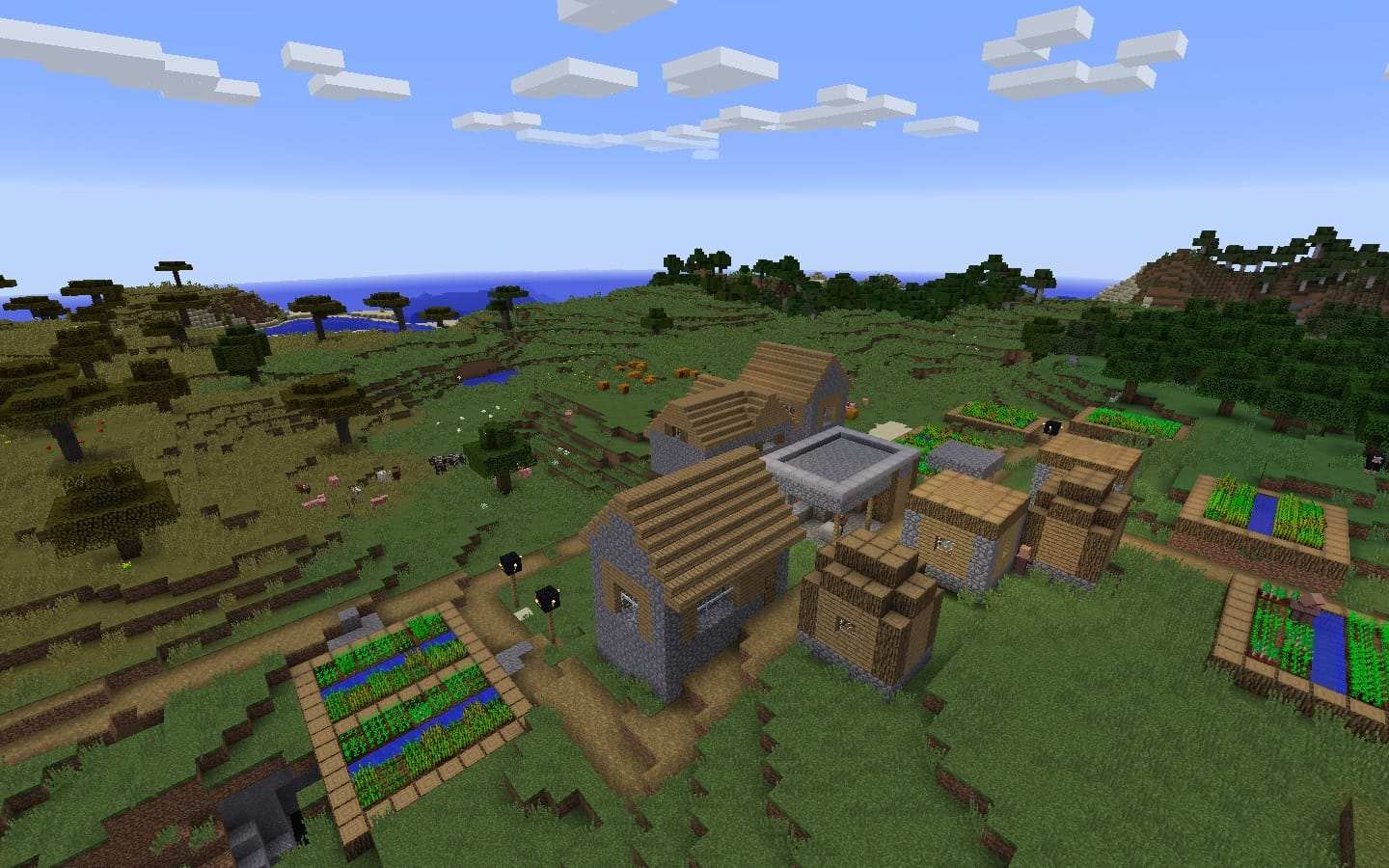 Java Edition Blacksmith Village Seed