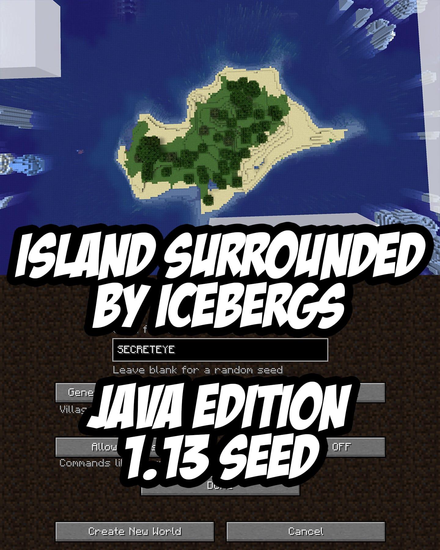 Java Edition 1.13+ /// Seed: SECRETEYE