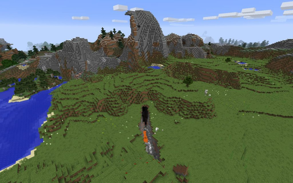 Biomes surrounding ravine