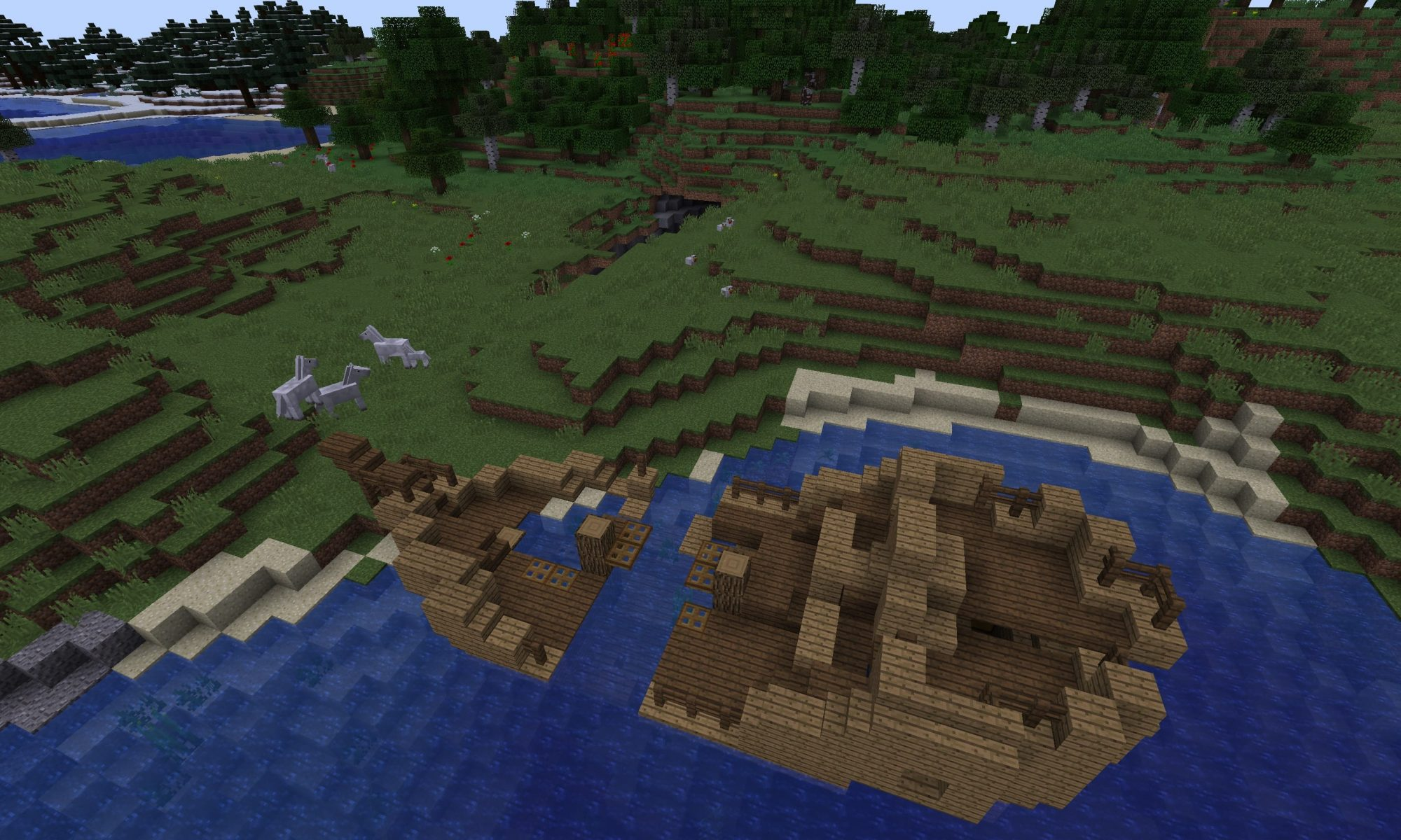 Shipwreck Seed Plus Ravine With Mineshaft At Spawn Minecraft Seed Hq