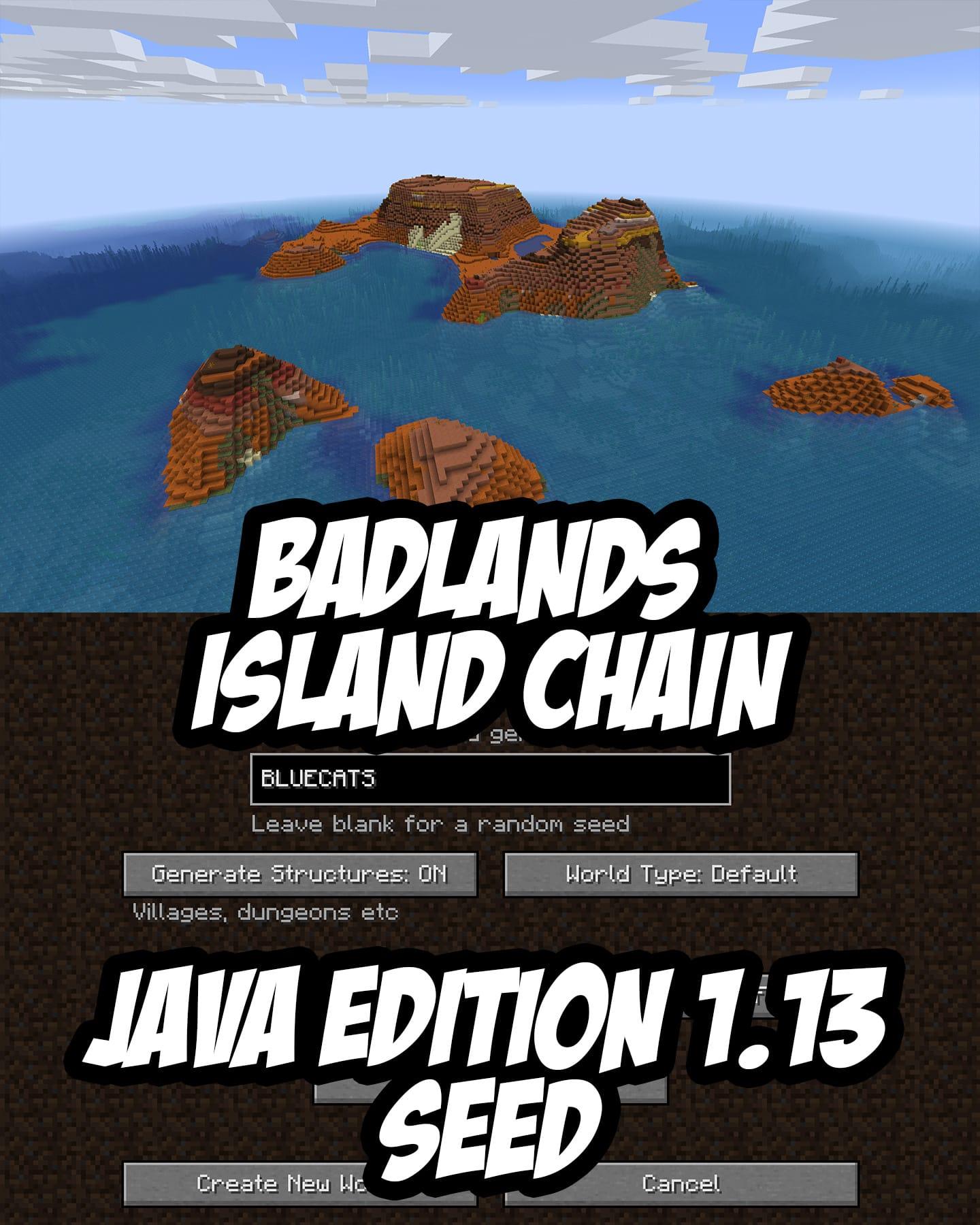 Minecraft Seed:BLUECATS (1.13+)