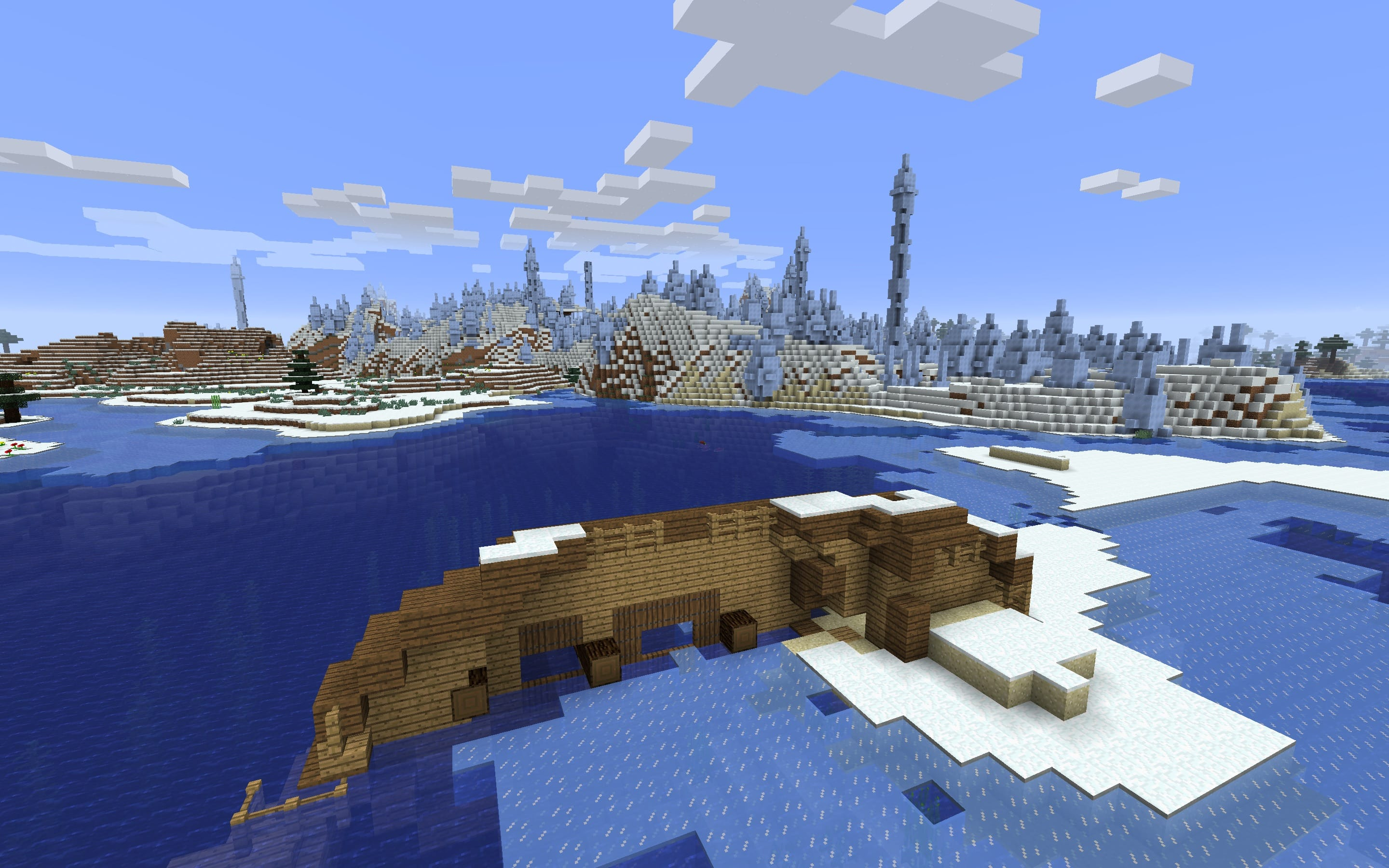 Minecraft Shipwreck Ice Spike Seed
