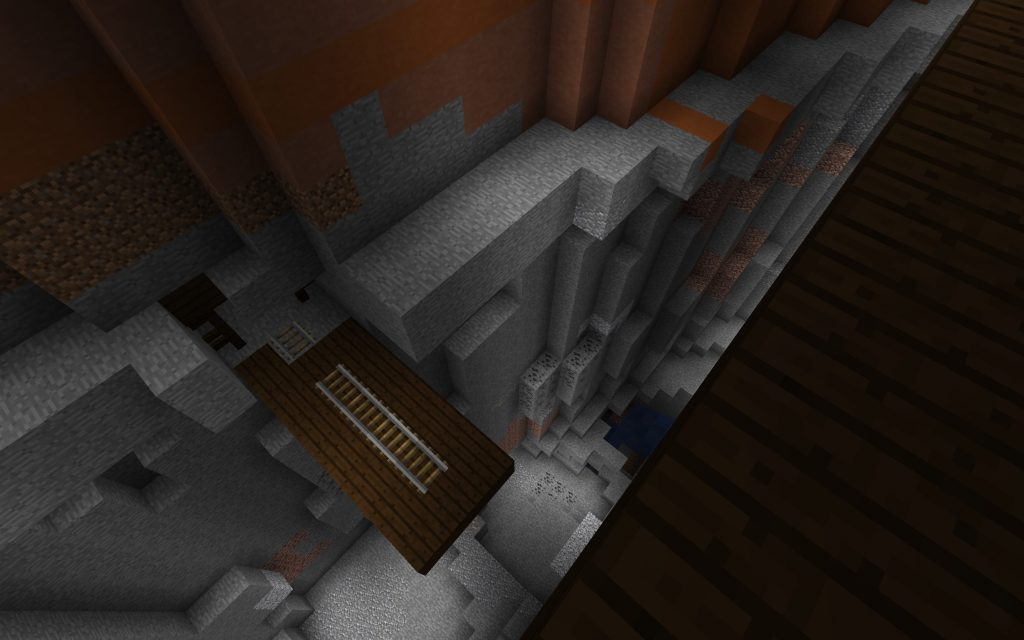 Ravine, Mineshaft and Rails