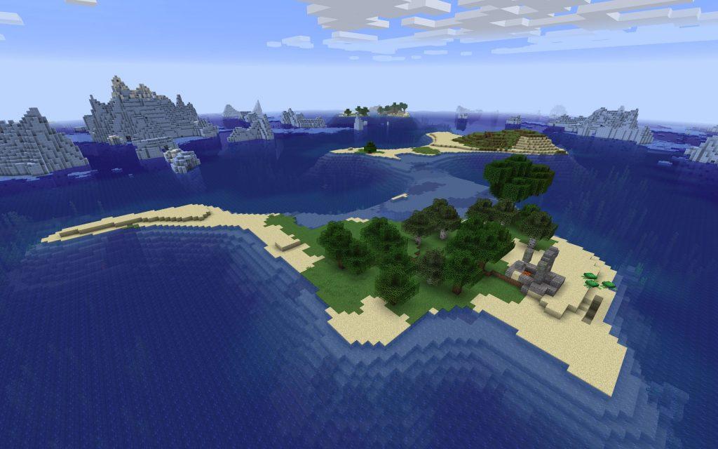 Island, Ocean, Icebergs