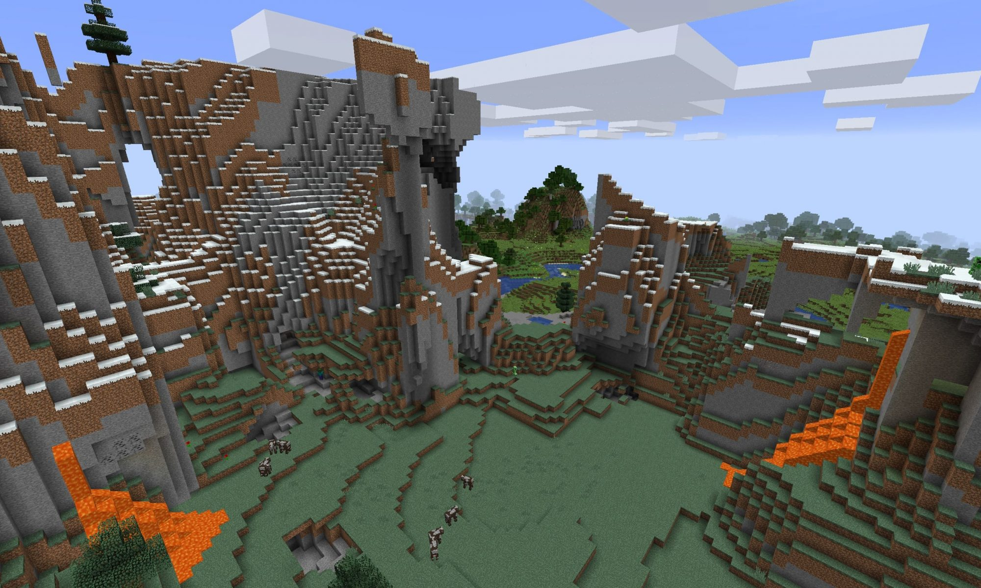 Minecraft Mountainextreme Hill Seeds Minecraft Seed Hq