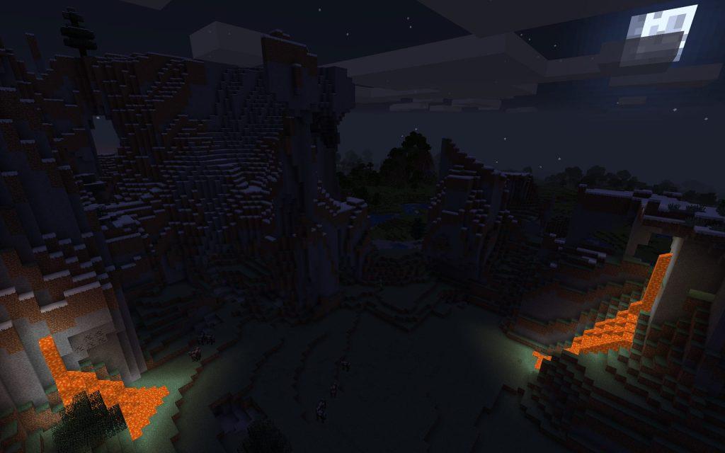 Lava-Lit Mountain