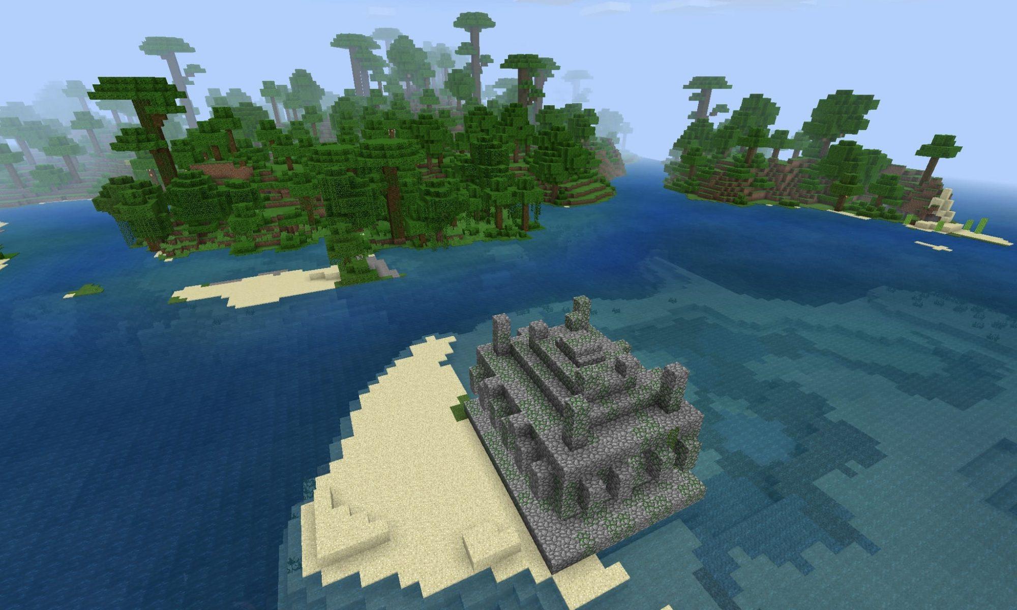 Jungle Temple Minecraft PE Seed