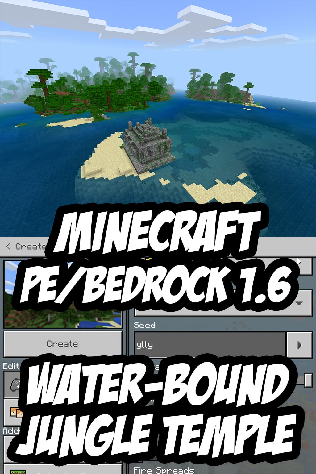 Minecraft PE/Bedrock Seed:ylly or by Seed Number:3711968