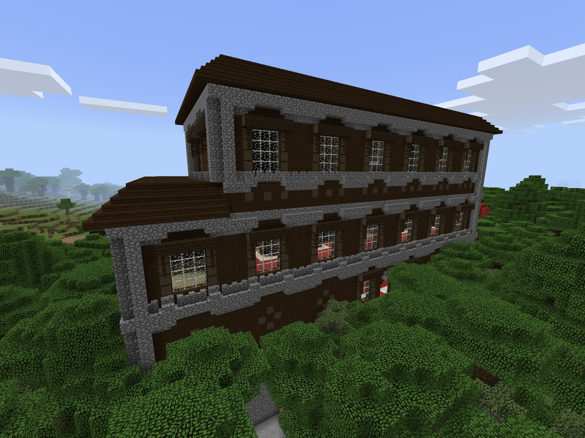 Woodland Mansion Less Than 700 Blocks From Spawn