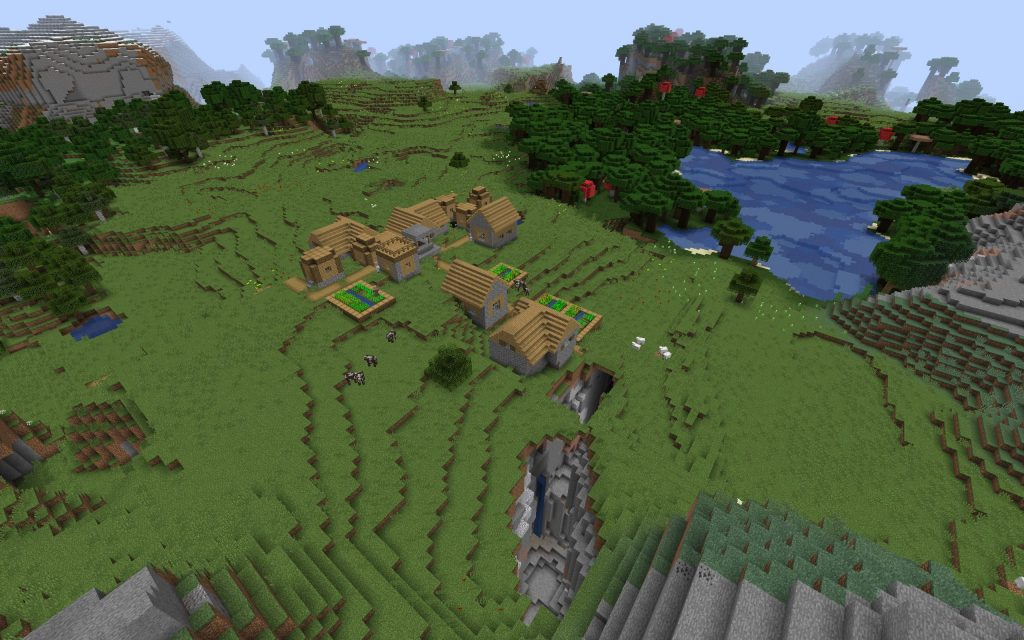 Village, Ravine, Mineshaft