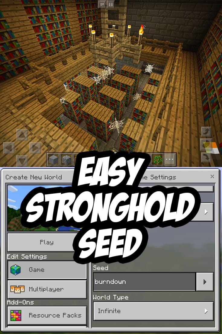 Easy Minecraft PE Stronghold Seed: burndown