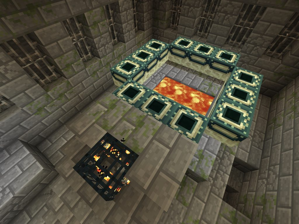 Stronghold Under Spawn Village MCPE Seed