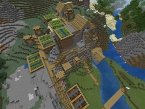 Minecraft PE Seed - Mountain Village