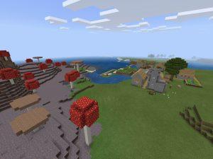 Minecraft PE Seed - Mushroom Island Seed
