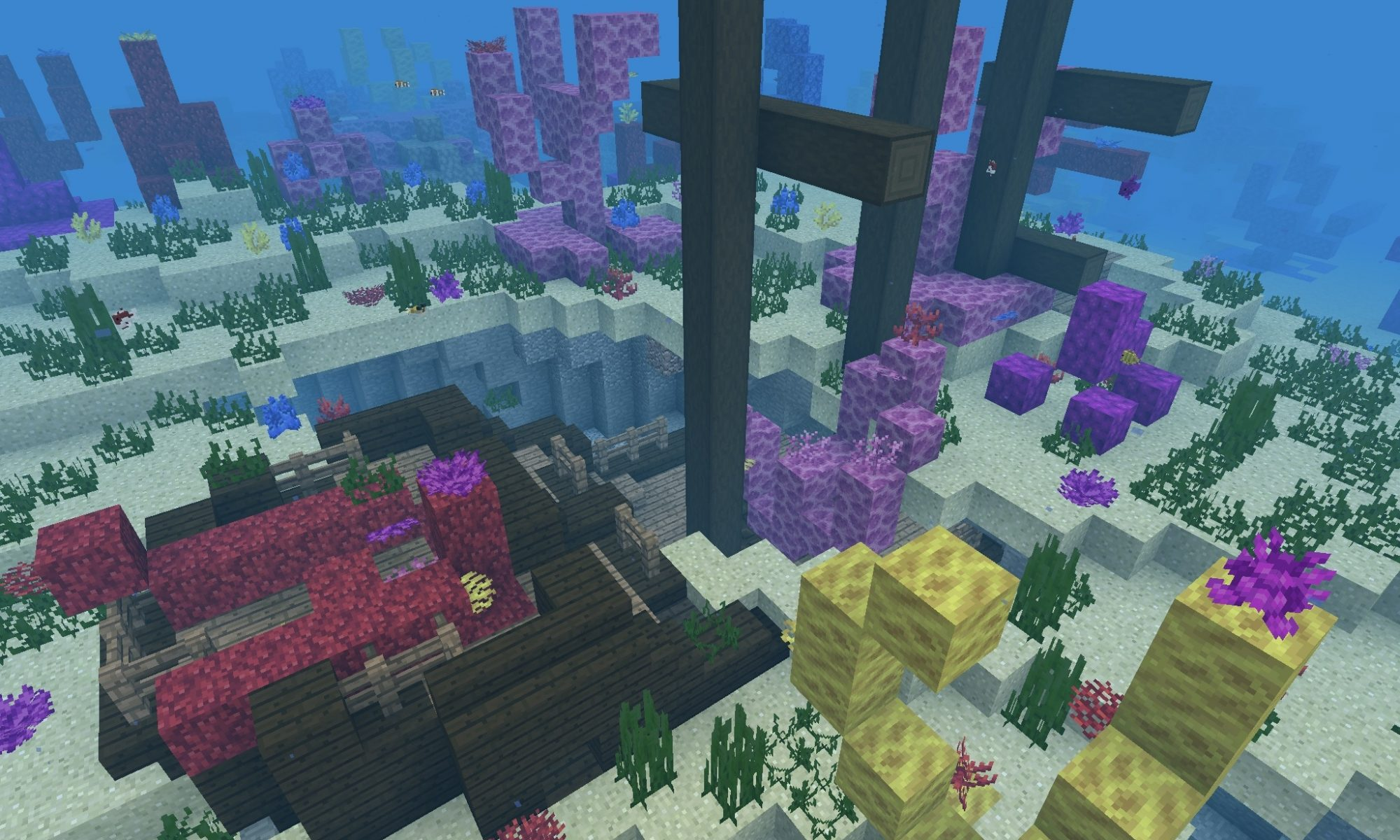 Minecraft Pe Coral Reef Seeds Minecraft Bedrock Edition Coral Reef Seeds