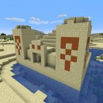 Desert Pyramid Near Mountain Village Spawn