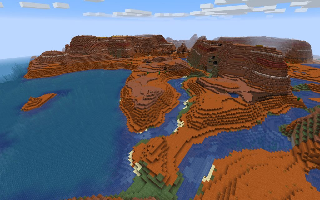 Badlands on the Water (Java Edition Seed)