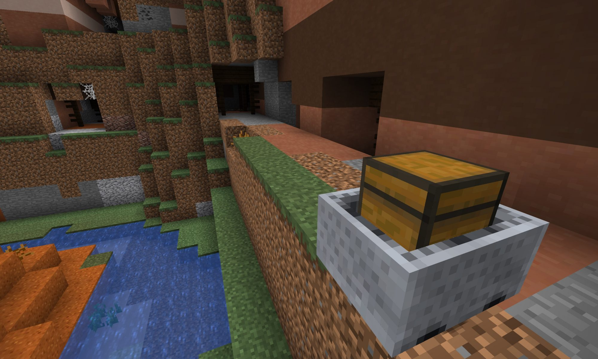 Minecraft Seed: Minecart with Chest x11