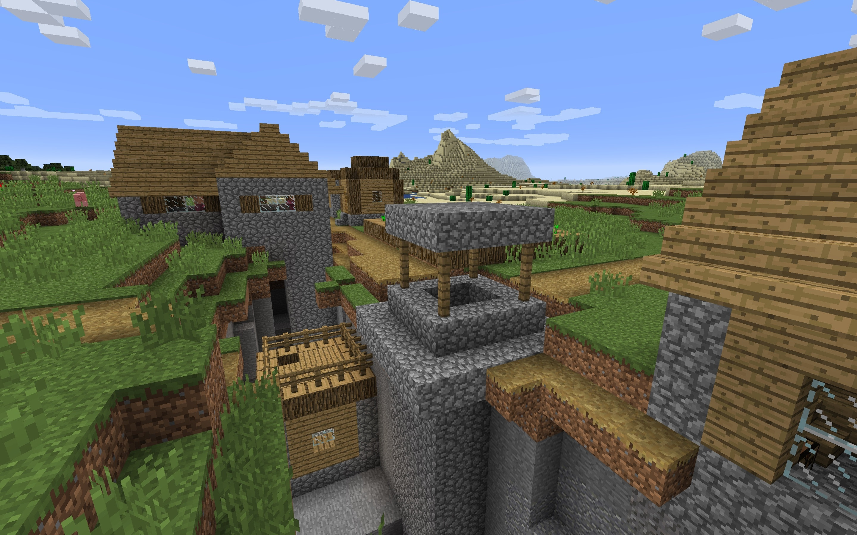 Village in Ravine Minecraft Seed