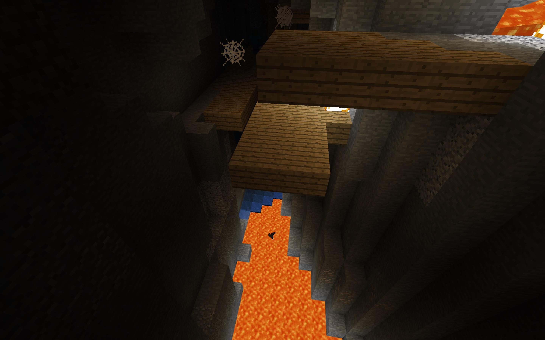 Minecraft Seed - Mineshaft Meets Ravine