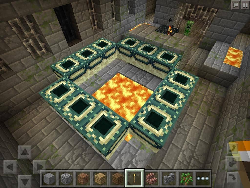 Stronghold Portal Room - Minecraft PE Seed