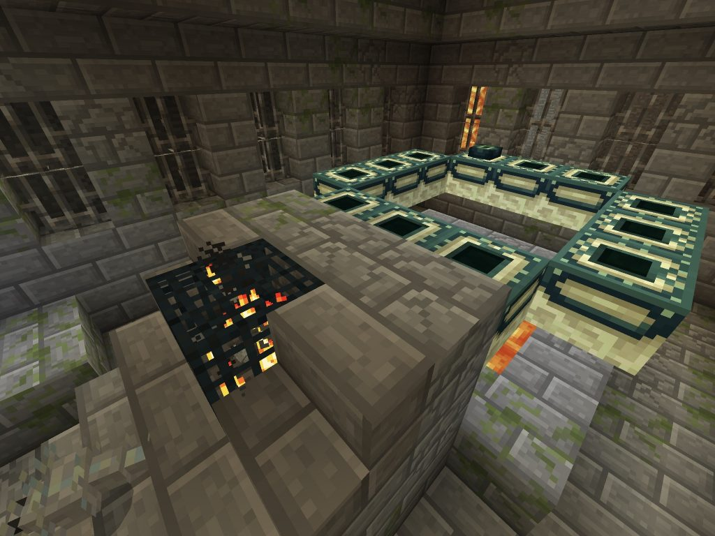 Stronghold beneath Savanna Floor (PE/Bedrock)