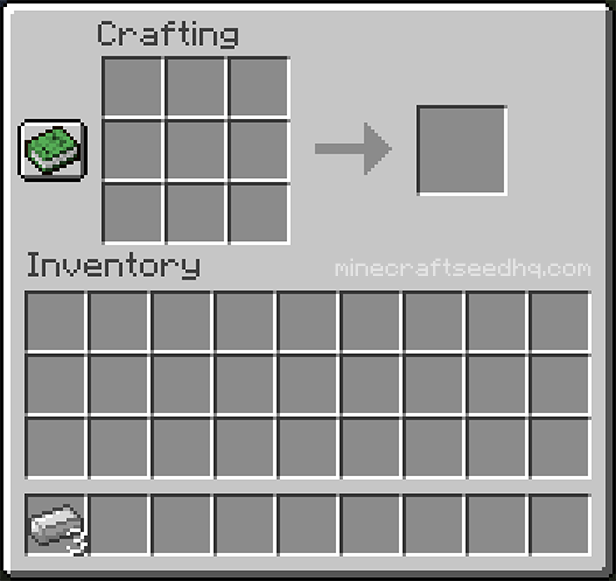 Minecraft Make a Bucket - Step 1