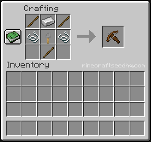 Minecraft Make a Crossbow - Crafting Recipe